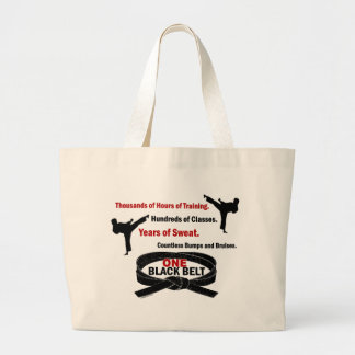 ONE Black Belt 1 KARATE T-SHIRTS & APPAREL Large Tote Bag