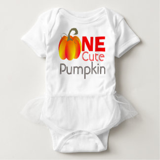 One Cute Pumpkin Funny Autumnal Graphic Baby Bodysuit