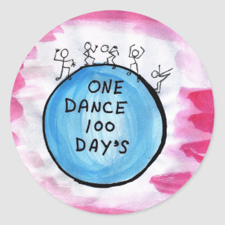 One Dance 100 Day's Classic Round Sticker