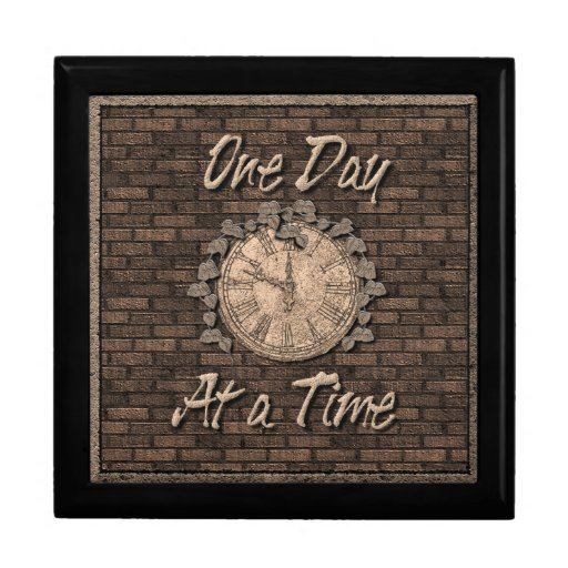 One Day At A Time God Box medallion box Keepsake Boxes