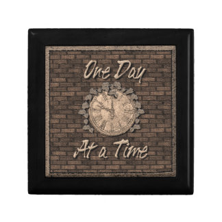 One Day at a Time God Box, Medallion Box Small Square Gift Box