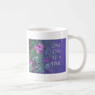 One Day at a Time Rhododendrons Basic White Mug