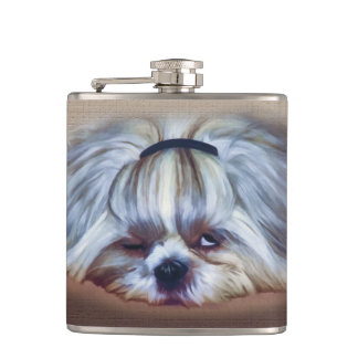 One Drink Too Many Shih Tzu Dog Hip Flask