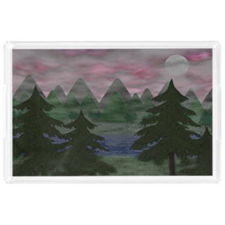 One Foggy Evening Acrylic Tray