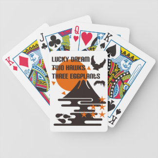One Fuji two 鷹 three eggplants Bicycle Playing Cards