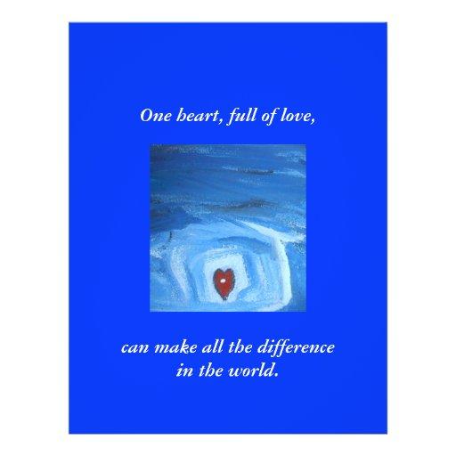 ONE HEART / A PRAYER CUSTOM FLYER