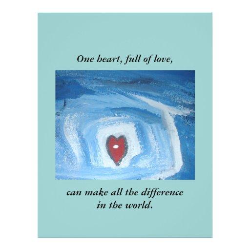 ONE HEART / GRANT ME WISDOM CUSTOM FLYER