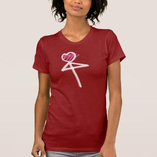 One Heart Love Umbrella/Mistletoe White T-shirt