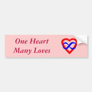 One Heart Many Loves Bumper Sticker
