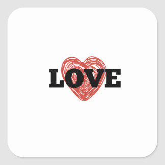 One Heart with Love stickers
