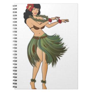 One Hula Girl Dancing Notebooks