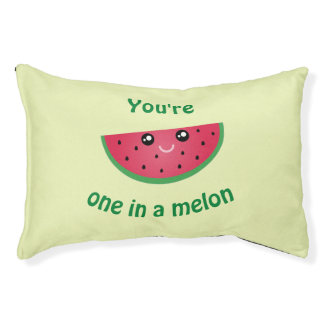 One In A Melon Funny Cute Kawaii Watermelon Pet Bed