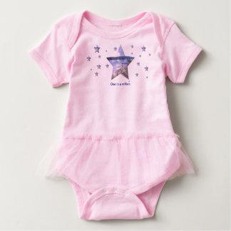 One in a million|Stars Baby Pink Tutu Bodysuit
