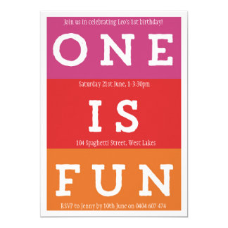 One is Fun Fiesta First Birthday Party Invitation