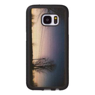 One Last Silhouette Wood Samsung Galaxy S7 Case