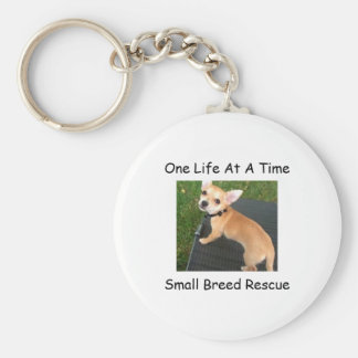 One Life At A Time Small Breed Rescue Key Chain
