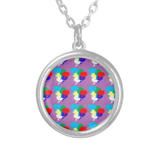 One MIND multiple THOUGHTS NVN184 NavinJOSHI FUN Round Pendant Necklace