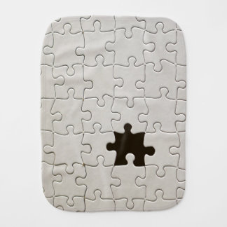 One Missing Puzzle Piece Baby Burp Cloths
