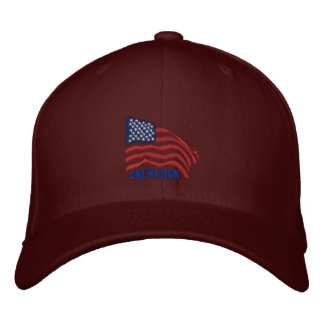 ONE NATION EMBROIDERED BASEBALL CAPS