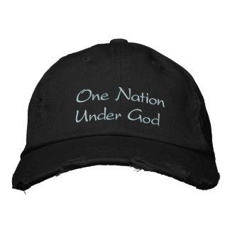 One Nation Under God Embroidered Hat