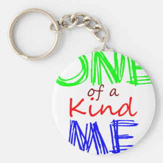 One of a Kind Me Basic Round Button Key Ring