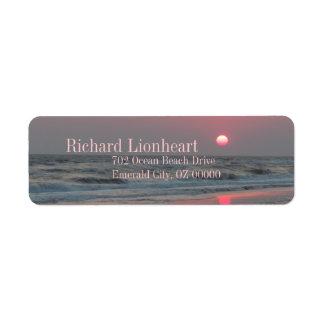 One Perfect Sunset - Oak Island, NC Return Address Label