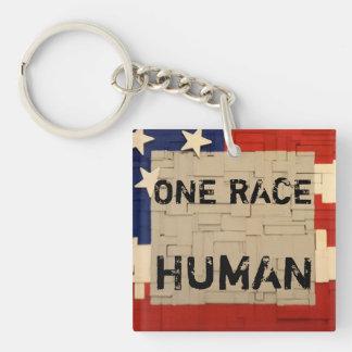 One RACE HUMAN Key Ring