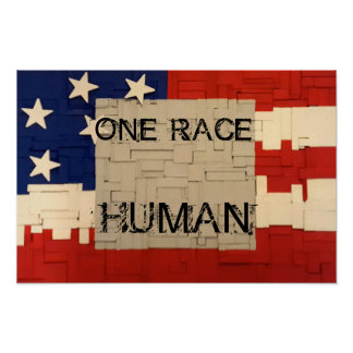 One Race Human Poster