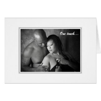 One touch-One kiss Greeting Card