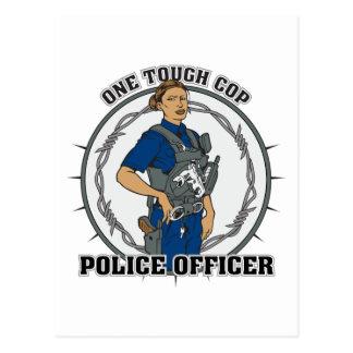 One Tough Female Cop Postcard