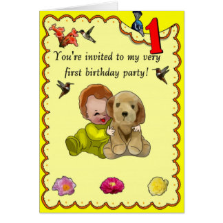 One Year Old Birthday Card