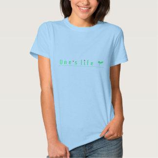 One's life ecology lady tshirt