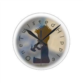 OneTwistedHippie #3 Round Clock