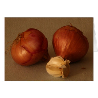 Onion & Garlic Card