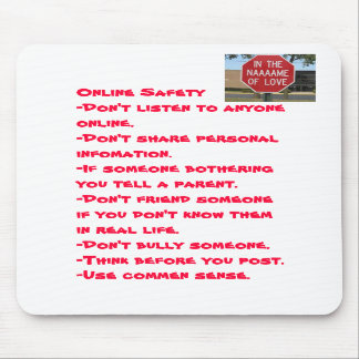 Online Safety mouse pad