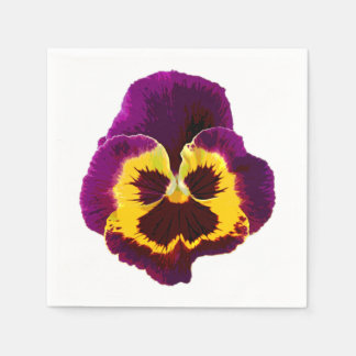 Only a Pansy Blossom + your text & ideas Disposable Napkin