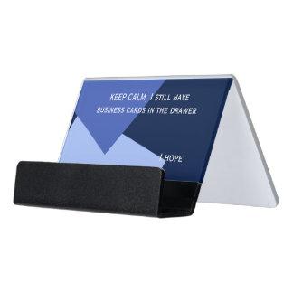 Only Color Background - blue mix Desk Business Card Holder