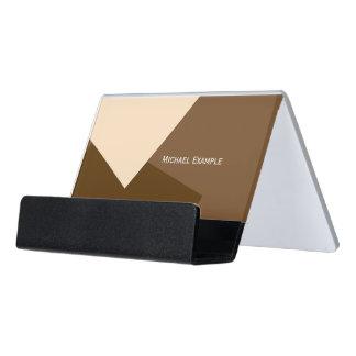 Only Color Background - brown beige + your ideas Desk Business Card Holder