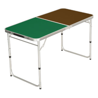 Only Color Background - dark green brown Beer Pong Table