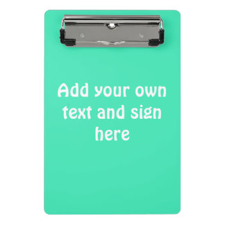 Only Color Background - mint green + your ideas Mini Clipboard