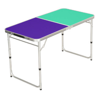 Only Color Background - mint purple + your ideas Beer Pong Table
