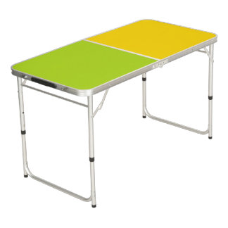 Only Color Background - spring green yellow Beer Pong Table