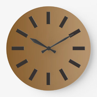 ONLY COLOR gradients - brown + clock face I