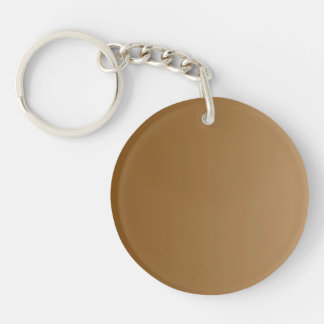 ONLY COLOR gradients - brown Double-Sided Round Acrylic Key Ring