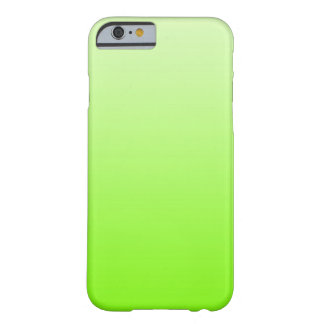 ONLY COLOR gradients - neon green Barely There iPhone 6 Case