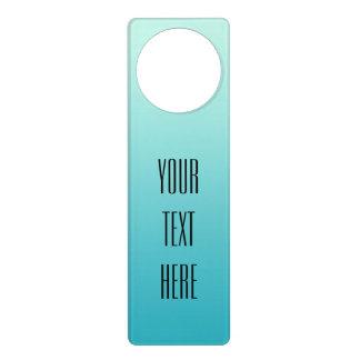 ONLY COLOR gradients ocean blue + your text Door Knob Hangers