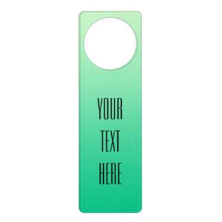 ONLY COLOR gradients ocean green + your text Door Hanger