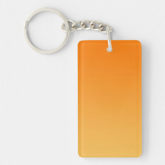 ONLY COLOR gradients - orange Double-Sided Rectangular Acrylic Key Ring