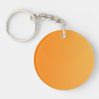 ONLY COLOR gradients - orange Double-Sided Round Acrylic Key Ring