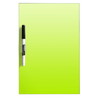 ONLY COLOR gradients - spring green Dry Erase Board